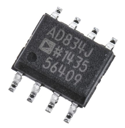 AD834JRZ Analog Devices, 4-quadrant Voltage Multiplier, 500 MHz, 8-Pin SOIC