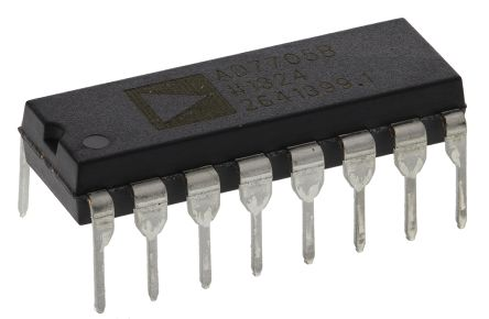 Analog Devices AD7705BNZ, 16-Bit Serial ADC Differential Input, 16-Pin PDIP