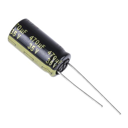 Panasonic 470μF Electrolytic Capacitor 35V dc, Through Hole - EEUFM1V471