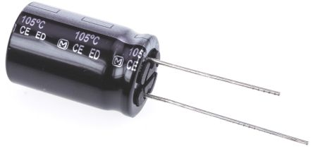 Panasonic 150μF Electrolytic Capacitor 200V dc, Through Hole - EEUED2D151