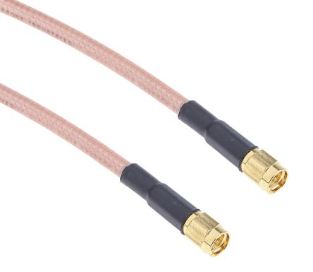 RS PRO Black Male SMA to Male SMA RG402 Coaxial Cable, 50 Ω | RS
