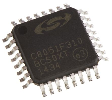 Silicon Labs C8051F310-GQ, 8bit 8051 Microcontroller, C8051F, 25MHz, 16 kB Flash, 32-Pin LQFP