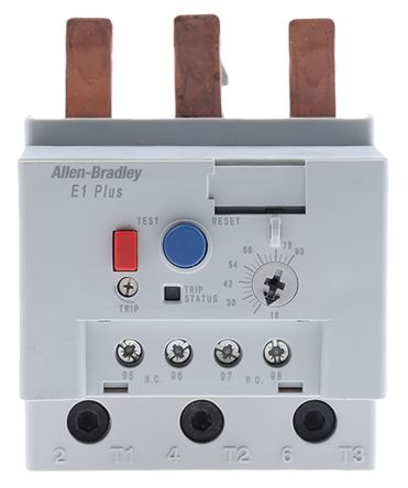 193-EEGE | Allen dley Electronic Overload Relay NO/NC, 18 → 90 A on