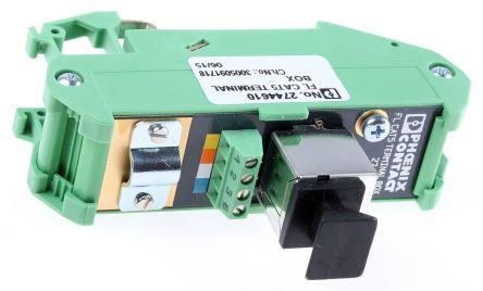 Phoenix Contact FL CAT5 TERMINAL BOX Terminal Box, DIN Rail Mount 90 x 25 x 52 mm