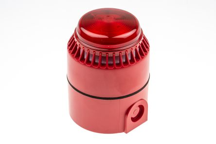 Flashni Sounder Beacon, 101dB, Red Xenon, 18 → 24 V dc
