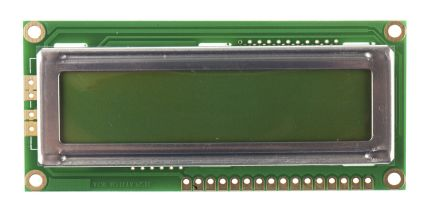 Displaytech 162C-BA-BC Alphanumeric LCD Display Green, 2 Rows by 16 Characters, Reflective