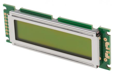 Displaytech 162D-BA-BC Alphanumeric LCD Display, Yellow on Green, 2 Rows by 16 Characters, Reflective