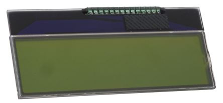 Displaytech 162COG-BA-BC Alphanumeric LCD Display, Yellow on Green, 2 Rows by 16 Characters, Reflective