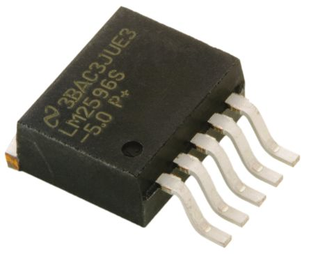 Texas Instruments, LM2596S-5.0/NOPB Step-Down Switching Regulator, 1-Channel 3A 5-Pin, D2PAK