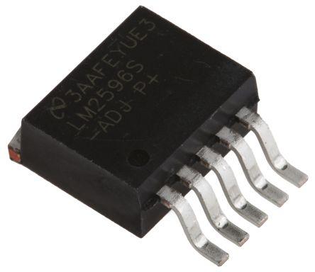 Texas Instruments, LM2596S-ADJ/NOPB Step-Down Switching Regulator, 1-Channel 3A Adjustable 5-Pin, D2PAK