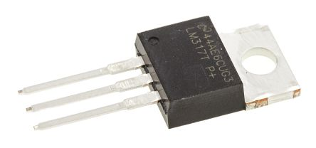 Texas Instruments, 1.2 → 37 V Linear Voltage Regulator, 1.5A, 1-Channel, Adjustable 3-Pin, TO-220 LM317T/NOPB