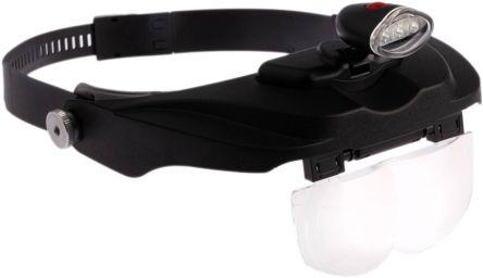 RS PRO LED Headband Magnifier Kit - 1.2, 1.8, 2.5, 3.5 x