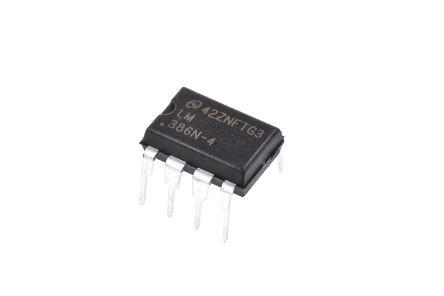 LM386N-4/NOPB Texas Instruments, Audio Amplifier, 8-Pin MDIP Mono