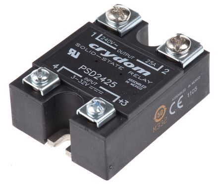 Sensata Crydom 25 A rms Solid State Relay DC Panel Mount SCR