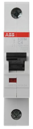 System M Pro S200 MCB Mini Circuit Breaker 1P, 4 A, 10 kA, Curve C