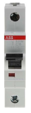 System M Pro S200 MCB Mini Circuit Breaker 1P, 16 A, 10 kA, Curve C
