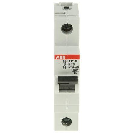 System M Pro S200 MCB Mini Circuit Breaker 1P, 10 A, 10 kA, Curve B