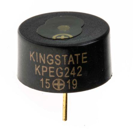 Piezo Indicator,PCB mounting,Internal Circuitry,3-16Vdc,70dB,Continuous,Washable,KPEG242