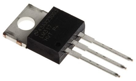 Texas Instruments, 1.2 → 57 V Linear Voltage Regulator, 1.5A, 1-Channel, Adjustable 3-Pin, TO-220 LM317HVT/NOPB