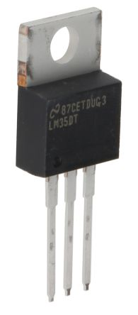 Texas Instruments LM35DT/NOPB, Temperature Sensor 0  +100 °C ±0.6°C Analogue, 3-Pin TO-220
