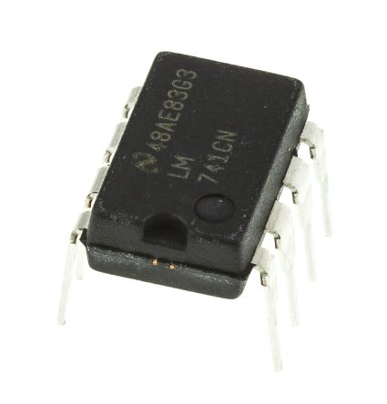 LM741CN/NOPB Texas Instruments, Op Amp, 1MHz, 8-Pin MDIP