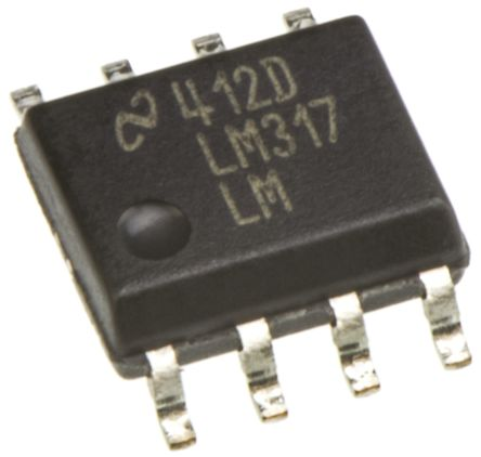 Texas Instruments, 1.2 → 37 V Linear Voltage Regulator, 100mA, 1-Channel, Adjustable 8-Pin, SOIC LM317LM/NOPB