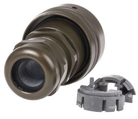 Amphenol Male Cable Mount RJ45 Plug, LAN Category Cat5e
