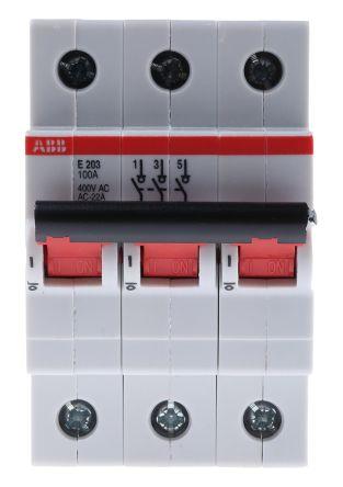 3 100 A MCCB Molded Case Circuit Breaker, DIN Rail Mount Pro M S2CU