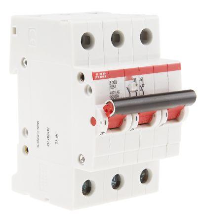 3 125 A MCCB Molded Case Circuit Breaker, DIN Rail Mount Pro M E200i