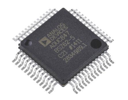 Analog Devices ADUC847BSZ62-5, 8bit 8052 Microcontroller, 12.58MHz, 4 kB, 62 kB Flash, 52-Pin MQFP