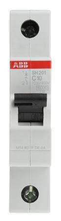 System M Pro S200 MCB Mini Circuit Breaker 1P, 10 A, 6 kA, Curve C