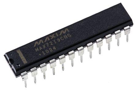 Maxim MAX7219CNG+, LED Driver, 8-Digits 64-Segments, 5 V, 24-Pin PDIP