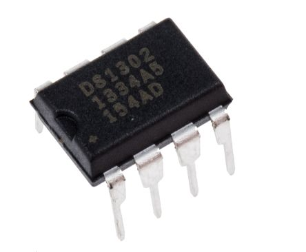 Maxim DS1302+, Real Time Clock (RTC), 31B RAM Serial, 8-Pin PDIP