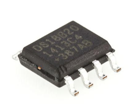 Maxim DS18B20Z+, Temperature Sensor -55 → +125 °C ±2°C 1-Wire, 8-Pin SOIC