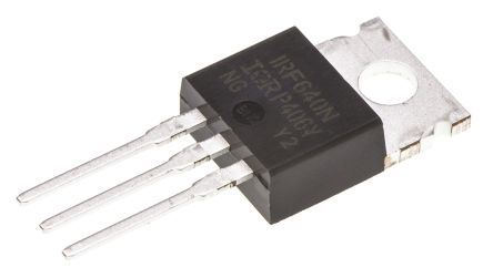 N-Channel MOSFET, 18 A, 200 V, 3-Pin TO-220AB Infineon IRF640NPBF