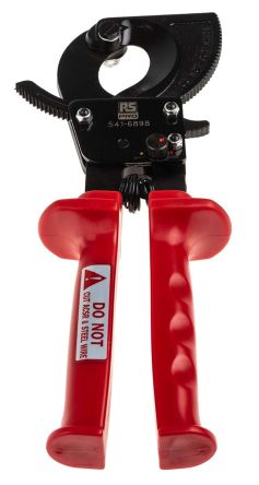 RS Pro Ratchet Cable Cutter Type Wire Cutter 250mm overall length ...
