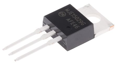ON Semi MJE15029G PNP Transistor, 8 A, 120 V, 3-Pin TO-220AB