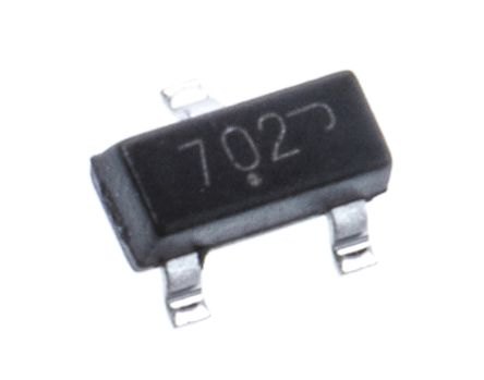 N-Channel MOSFET, 115 mA, 60 V, 3-Pin SOT-23 ON Semiconductor 2N7002LT1G