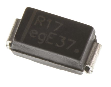 ON Semi 1000V 1A, Silicon Junction Diode, 2-Pin DO-214AC MRA4007T3G