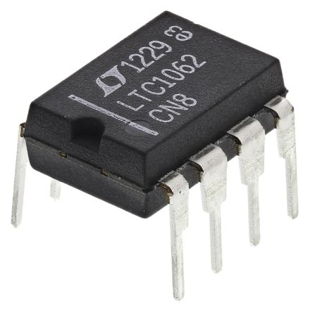 Linear Technology LTC1062CN8#PBF, Active Filter, Low Pass Filter, 5th Order Switched Capacitor 20kHz, 8-Pin PDIP