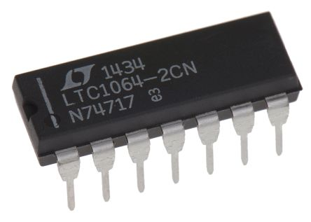 Linear Technology LTC1064-2CN#PBF, Active Filter, Low Pass Filter, 8th Order 140kHz, 14-Pin PDIP