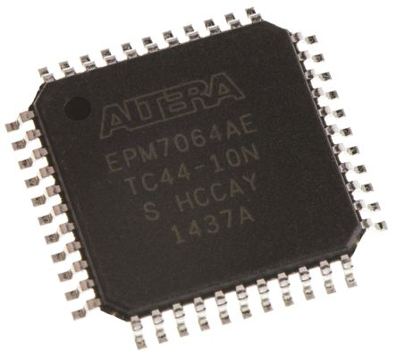 Altera EPM7064AETC44-10N, Complex Programmable Logic Device CPLD MAX 7000A EEPROM 64 Cells, 36 I/O, 4 Labs, ISP, 44-Pin