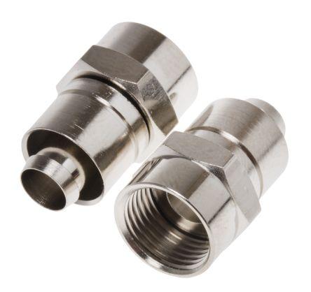 RS PRO Straight Cable Mount Mount F Plug, Plug, Crimp Termination, 0 → 1GHz, RG6 L Cable