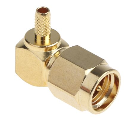 RS Pro Right Angle 50Ω Cable Mount SMA Connector, Crimp Termination RG174