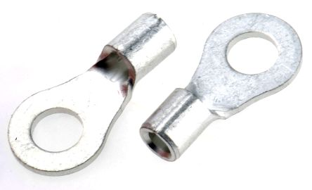 """#6 batt//supply wire uninsulated 1//4/"""" ring connectors"""