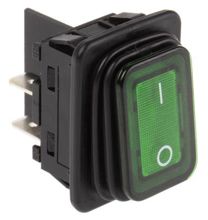 312989ea7d24c8 1935.3118   Interrupteur à bascule lumineux Vert bipolaire ...