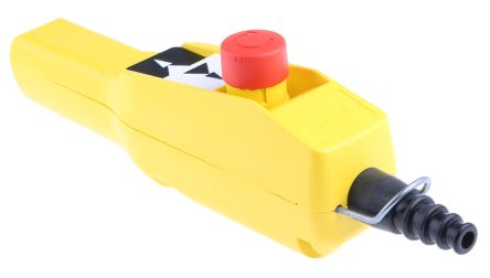 Schneider Electric 4NO/NC 3 Push Button Pendant Station 3 A ac, 270 mA dc Yellow, 600V, IP65 3 Black, Red, White Down
