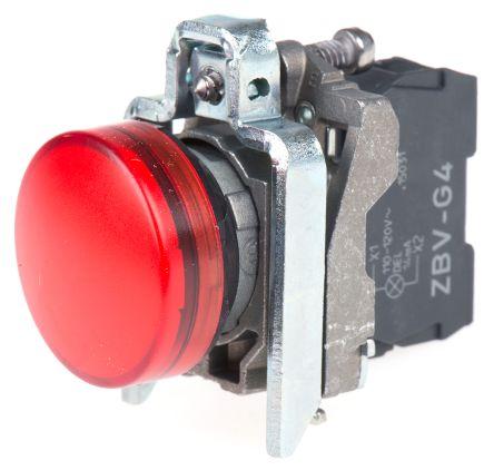 XB4BVG4 Schneider Electric XB4 Red LED Pilot Light 22mm