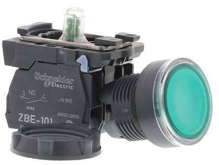 Green Round Push Button Switch XB 22mm Panel Mounting SCHNEIDER TELEMECANIQUE
