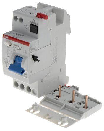 3P 25 A, RCD Switch, Trip Sensitivity 30mA, DIN Rail Mount pro M compact DDA 200 A